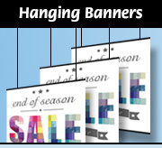 Hanging Banners for Retail Display